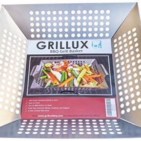 #1 BEST Vegetable Grill Basket – Grillux Grill Basket BBQ Accessories