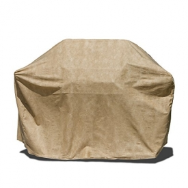 Budge P8005SF1 All-Seasons BBQ Grill Cover with Shelves, 65 x 22 x 42-Inch, Tan