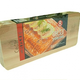 Coastal Cuisine Large Cedar Grilling/Barbecue Planks Set of 8 (2-Pack)