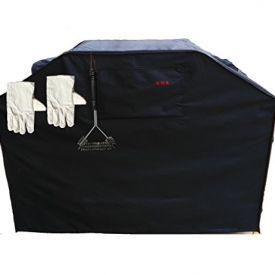 KMA Grill Cover – Up to 58″ Wide, Heavy Duty – Fits Weber (Genesis), Holland, Jenn Air, Brinkmann, Char Broil, & More Black