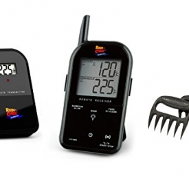 Maverick Wireless Barbecue Thermometer – Black ET732 – Includes Bear Paw Meat Handlers