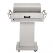 TEC G-Sport FR Natural Gas Grill On Stainless Steel Pedestal with Right Side Shelf